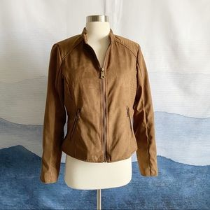 Marc New York Brown Suede Bomber Jacket
